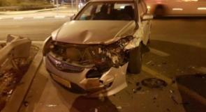 اصابة شابين بجروح متوسطة بحادث طرق قرب جلجولية