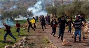 إصابات خلال قمع الاحتلال مسيرة نعلين الأسبوعية