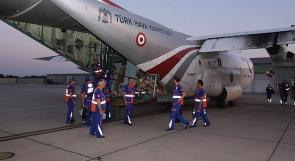 طائرة عسكرية تركية لنقل 20 من جرحى العدوان على غزة