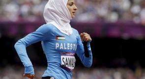 العداءة صوالحة ترفع علم فلسطين بحفل ختام اولمبياد لندن غدا