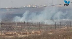 """بالصور... حريق كبير في مستوطنات""""شعار هنيغيف"""""""