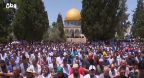 في الجمعة الثانية من رمضان .. عشرات الآلاف يتدفقون الى الأقصى