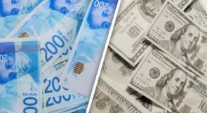 """""""بنك إسرائيل"""" يفشل في محاولة تقوية الدولار"""