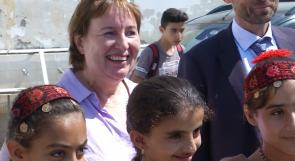 مبعوثة السلام الأوروبية لأهالي الأغوار: سنستمر في دعمكم!