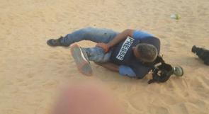 """إصابة 5 صحفيين خلال تغطيتهم لمسيرة """"غزة تنتفض و الضفة تلتحم"""""""