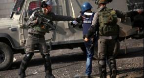 نقابة الصحفيين تدين قمع الاحتلال لمجموعة من الصحفيين في رام الله