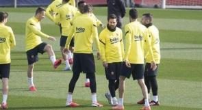 برشلونة يعود للتدريبات بقيادة ميسي