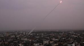 فيديو | إطلاق صاروخ من غزة على مستوطنة سديروت