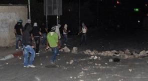 الخليل : إصابة شاب في المواجهات في بلدة بني نعيم