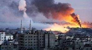 استشهاد مواطن واصابة 3 اخرين في سلسلة غارات على غزة