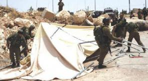 قوات الاحتلال تنصب 20 خيمة عسكرية في أراضي يعبد