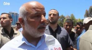 أبو نعيم لوطن: الأمن لم يتدخل في فض التظاهرة المطالبة بوقف الإجراءات العقابية على غزّة