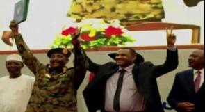 توقيع وثيقة تقاسم السلطة بين المجلس العسكري والمعارضة في السودان