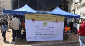 في يوم الصحة العالمي ... خيمة فحص مجاني تنصبها الاغاثة الطبية