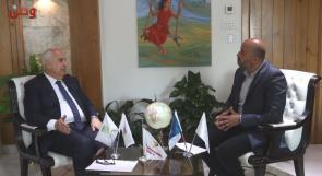 """وطن تحاور """" أنور الشنطي """" ، رئيس مجلس إدارة الاتحاد الفلسطيني لشركات التأمين والرئيس التنفيذي لمجموعة ترست العالمية للتأمين – فلسطين"""