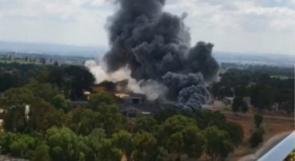 حريق بمستودع للصناعات العسكرية في جيش الاحتلال