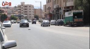 حوادث سير خطرة على شارع طوباس والمواطنون يناشدون عبر وطن