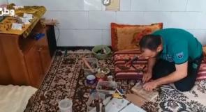 فيديو   غزة: مجدي أبو طاقية يحيل قنابل الاحتلال ورصاصاته لتحف فنية