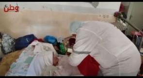 وفد طبي من لجان العمل الصحي يقدم المساعدة الطبية للمواطنين في مخيم الجلزون