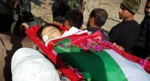 غزة تودع شهيدها الطفل أحمد أبو عابد