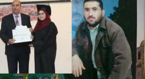 آلاء ابنة الأسير وائل قاسم لوطن: لم تسعني الدنيا فرحا عندما هاتفني أبي من السجن مهنئا بتفوقي