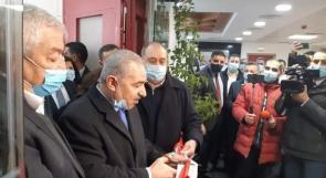 افتتاح مستشفى الهلال الأحمر المخصص لعلاج كورونا في نابلس