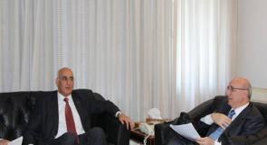 وزير العدل د.خشان يلتقي نظيره اللبناني ويناقش معه قضايا ثنائية