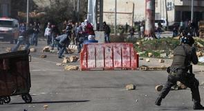 اصابات في مظاهرات قرب عوفر تضامنا مع الاسرى