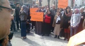 اعتصام  تضامني في رام الله ينادي بحماية غزة