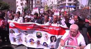 بالفيديو ... مسيرة طلابية لدعم الاسرى في اضرابهم المفتوح عن الطعام