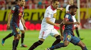 برشلونة يتربع على الليجا بفوز دراماتيكي على اشبيلية