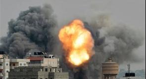 إصابات في غارات إسرائيلية على القطاع