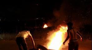 """بالصور والفيديو ... مواجهات عنيفة مع قوات الاحتلال عند """"بيت إيل"""""""