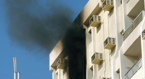 وفاة فلسطيني وطفلته في حريق شقة بأبو ظبي