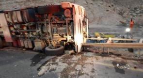 إصابة خطيرة لشاب بانقلاب شاحنة في النقب