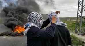 مواجهات مع الاحتلال على المدخل الشمالي للبيرة