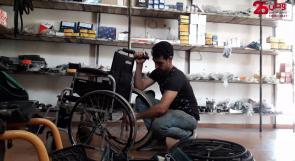 """""""بصمة خير"""".. مبادرة تهدف لمساعدة ذوي الاحتياجات الخاصة في إصلاح كراسيهم المتحركة"""