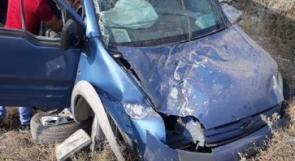 """5 إصابات في حادث سير على مدخل بلدة """"إذنا"""" غربي الخليل"""