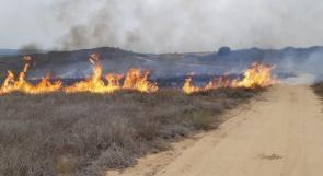 """8 حرائق في """"غلاف غزة"""" يعتقد أنها بسبب بالونات حارقة"""
