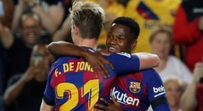 رغم غياب ميسي.. برشلونة يكتسح فالنسيا بخماسية
