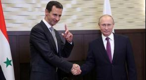 الأسد يتلقى اتصالاً هاتفياً من بوتين