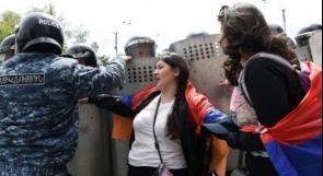 المظاهرات في أرمينيا تطيح برئيس الوزراء