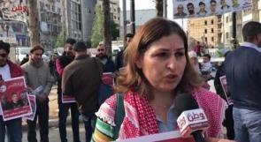 زوجة الاسير عاهد ابو غلمة تطالب عبر وطن القيادة الفلسطينية بضرورة التحرك دوليا لالغاء الاعتقال الاداري