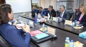 ناصر الجاغوب يستقبل مديرة التعاون في مكتب الإتحاد الأوروبي