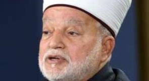 المفتي العام يحذر من محاولات تغيير ملامح المسجد الأقصى المبارك