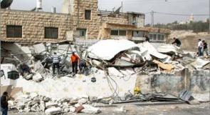 الاحتلال يهدم اربعة منازل في بيت جالا