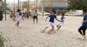 فريق فلسطين يفوز ببطولة دبي للكرة الشاطئية