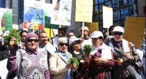 رام الله: مسيرة تطالب بالحقوق المائية والأمن الغذائي