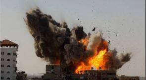 طائرات الاحتلال تقصف مبنى فضائية فلسطين سابقا في غزة