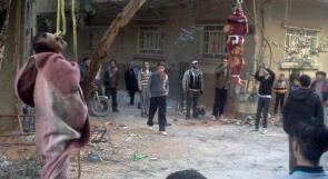 الجيش الحر يشنق فلسطينيين بمخيم اليرموك